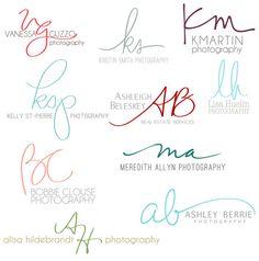 Custom hand written initials logo - custom logo design - OOAK logo ...