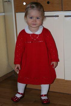 Knitted dress for little girl