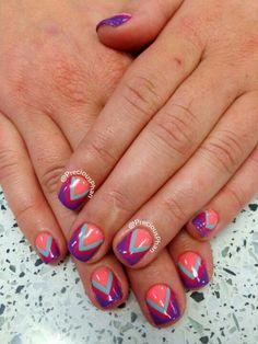 V neon nails