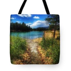 Eagle Rock Lake Carson National Forest New Mexico Tote Bag featuring the photograph Eagle Rock Lake Carson National Forest New Mexico by Debra Martz