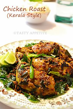 Tasty Appetite: Kerala Style Chicken Roast / Spicy Pepper Chicken Fry / Nadan Chicken Roast / Step-by-Step Recipe: Veg Recipes, Spicy Recipes, Curry Recipes, Indian Food Recipes, Asian Recipes, Cooking Recipes, Ethnic Recipes, Recipies, Indian Foods