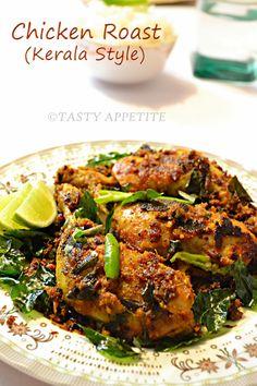 Kerala Style Chicken Roast / Spicy Pepper Chicken Fry / Nadan Chicken Roast / Step-by-Step Recipe: | Tasty Appetite