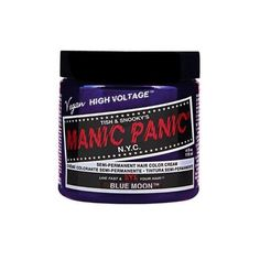 Manic Panic Hair Dye Classic Cream Color Blue Moon Semi-Permanent... ❤ liked on Polyvore featuring beauty products, haircare, hair color, manic panic, hair and hair dye