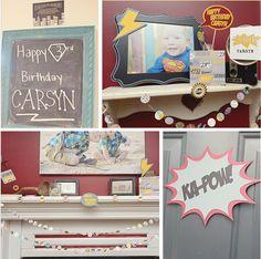 Carsyn's Super Hero Birthday Party