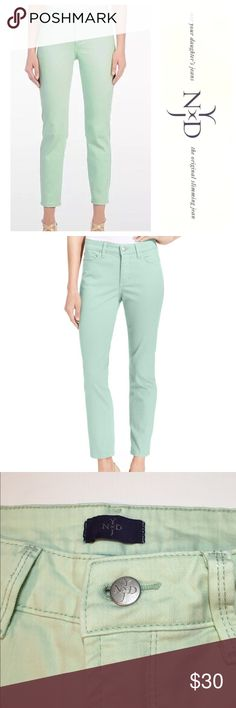 """NYDJ Mint Ankle Jeans ✔️Cotton/Spandex Blend ✔️Mint Color ✔️Ankle Fit ✔️Inseam: 26.5"""" approx. ✔️No Holes, Stains or Damages NYDJ Jeans Ankle & Cropped"""