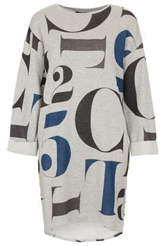 Letter Print Sweat Dress by TopShop