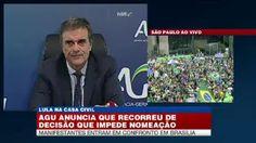 Portal Galdinosaqua: União recorreu de decisão que impede nomeação de Lula.