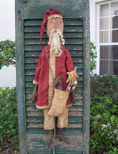 """""""Santa with bag of Goodies"""" pattern $12 plus shipping - LOVE Smiling Goat patterns!"""