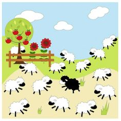 Baa Baa Black Sheep, 1 of the of wallpaper wall murals at Magic Murals. Wallpaper murals from Magic Murals are the professional's choice for quality. Baa Baa Black Sheep, Wall Wallpaper, Wall Murals, Snoopy, Nursery, Fictional Characters, Decor, Art, Wallpaper