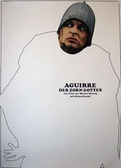 Aguirre, der Zorn Gottes (the Wrath of God), film by Werner Herzog, Great film with Klaus Kinski. Polish Posters, Film Posters, Cinema Posters, Art House Movies, Werner Herzog, Celebrity Photography, Best Director, Film Inspiration, Alternative Movie Posters