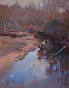 Reflections on Big Creek by Barbara Jaenicke Pastel ~ 10 x 8