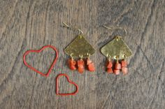 Coral Bouquet Earrings by MLKANHNY on Etsy, Valentines.