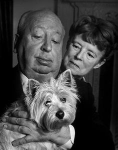 Philippe HALSMAN :: Alfred Hitchcock and Alma Reville at their Bel Air home, 1974