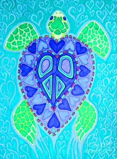 Sea Turtle Swim Drawing by Nick Gustafson - Sea Turtle Swim Fine Art Prints and Posters for Sale