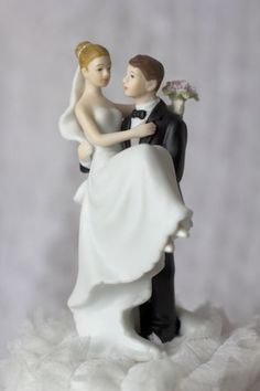 Groom Carrying Bride Traditional Wedding Cake Toppers