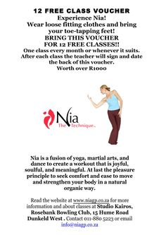 WIN: 12 Nia Dance Classes