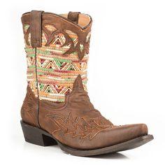 Stetson Women's Raffia Western Boots