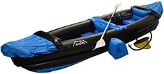 Andes Blue Inflatable/Blow Up Two Person Kayak/Canoe With Paddle Water Sports…