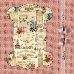 Cartonnette plastifiée pour dentelles ou rubans