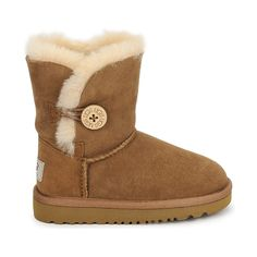 Kids can have real UGGs too, with a leather upper and sheepskin lining! #shoes #boots #midboots #uggs #sheepskin #children #kids #fashion #uk