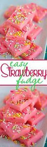 This Easy Strawberry Fudge takes just three ingredients and tastes like summer! Pretty and pink, this fudge is so much fun to eat! Whip up a batch today!I gave my boys the option of making cookies or...