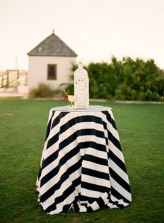 love these black and white #striped linens Photography: Lauren Kinsey Fine Art Wedding Photography - laurenkinsey.com