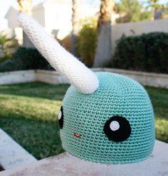 19586449db8 Items similar to Narwhal Hat  Kawaii Japanese -ish Handmade Crochet Beanie  Hat on Etsy