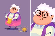 Funny old woman character. Isolated by Krol on Creative Market ( ) People Illustration, Children's Book Illustration, Character Illustration, Forest Illustration, Female Characters, Cartoon Characters, Character Drawing, Character Design, Design Reference