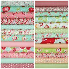 Scrumptious quilt fabric bundle by Bonnie and Camille for Moda Fabrics- Fat Quarter Bundle- 25 total plus