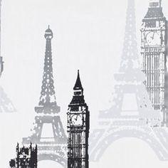 Papier peint vinyle expansé sur intissé Paris Londres