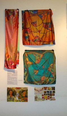 scarves i designed, on an exhibition
