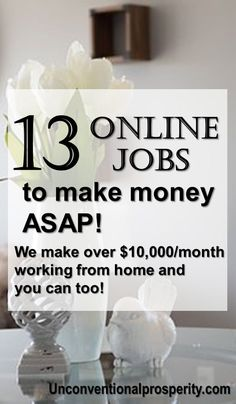 13 super awesome ways to make money with online jobs right now! Click through an. 13 super awesome ways to make money with online jobs right now! Click through an. Earn Money Online, Make Money Blogging, Money Tips, Money Hacks, Saving Money, Online Cash, Blogging Ideas, Online Income, Online Jobs From Home