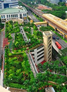 Pin on Green Roofs and Walls 8 Unorthodox Locations For Romantic Dinner In Singapore AspirantSG Food, Travel, Lifestyle 30 Rooftop Restau. Green Facade, Green Roofs, Landscape Design, Garden Design, Vertical Farming, Living Roofs, Sky Garden, Green Architecture, Rooftop Terrace