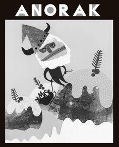 Anorak magazine by Lindsey Scott Magazine Art, Magazine Covers, Playing Cards, Cool Stuff, Illustration, Christmas, Kids, Xmas, Young Children