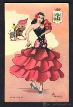 Andalusia Huelva coat of arms Pencil Sketch Portrait, Ballerina Art, Spanish Dancer, Disney Designs, Flamenco Dancers, Chicano Art, Sewing Art, Dance Art, Antique Prints