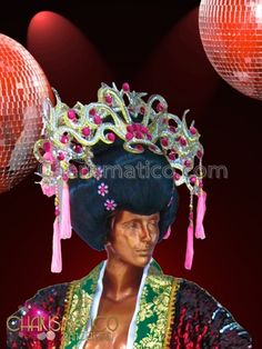 Charismatico Dancewear Store - CHARISMATICO Semi-Traditional Pink and Gold Maiko Wig Styled Drag Queen Headdress , $175.00 (http://www.charismatico-dancewear.com/charismatico-semi-traditional-pink-and-gold-maiko-wig-styled-drag-queen-headdress/)