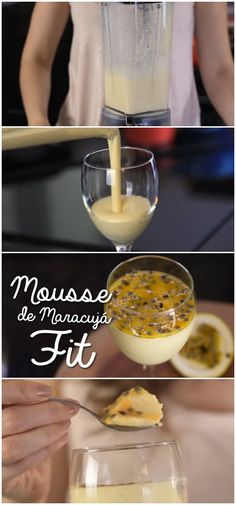 Mousse de Maracujá Fit #mousse #maracujá #fit #receita #gastronomia #culinaria #comida #delicia #receitafacil