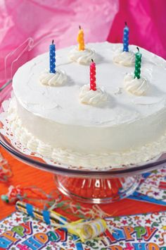 "CLICK PIC  2x for Recipe....  ...White Birthday Cake w Buttercream Cheese Frosting... ...Recipe by George Stella... ...For tons more Low Carb recipes visit us at ""Low Carbing Among Friends"" on Facebook"