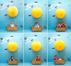 Kids' Hot Air Balloon Photobooth DIY via @Jordan Bromley Ferney