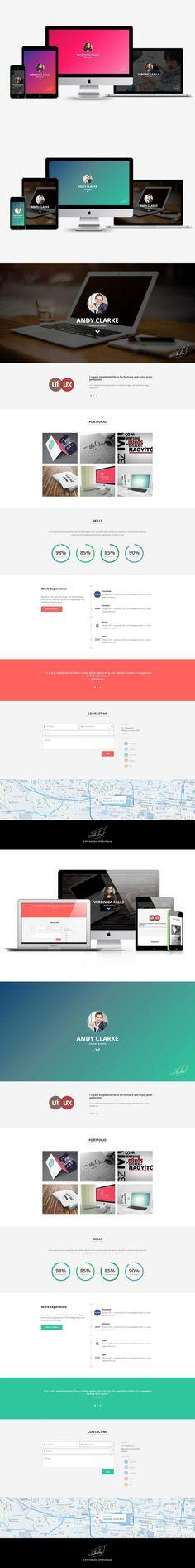 Ezna u2013 Personal Portfolio Template HTML\/CSS Themes HTML\/CSS - resume templates html
