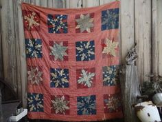 "Antique Quilt Cotton Filled 78""X64"" 