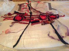 Studio 907: Red Rose Nuno Felted Vest