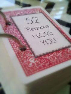 52 Reasons I Love You cards, Tutorial