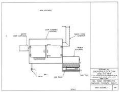These smoker plans will show you how to make a smoker from an oval oil tank that is approximately 275 gallons. these BBQ smoker plans are fully detailed and include all the dimensions. Smoker Fire Box, Bbq Pit Smoker, Bbq Grill, Grilling, Barbecue, Build A Smoker, Bbq Smoker Trailer, Bbq Equipment, Offset Smoker