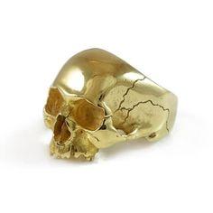 Gold Skull Ring   Freddie Grove   Wolf & Badger