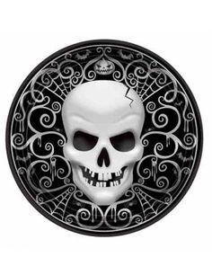 8-assiettes-en-carton-tete-de-mort-halloween-27-cm_216997.jpg (1422×1845)