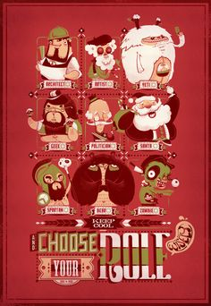 Keep Cool and Choose Your Role Wisely by Tan Zhi Hui, via Behance