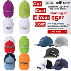 We've got you covered with great hat deals this week! Assorted golf hats start at only $5.97! Cobra Golf, Golf Club Sets, Golf Tips, Golf Ball, Cool Photos, Hats, Marker, Cold Weather, Hat