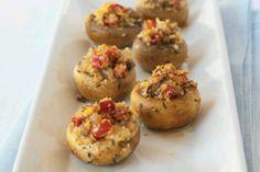 Stuffed mushrooms http://m.kraftrecipes.com/recipedetail.do?recipeid=91499=allnewrec_collectn=US=allnewrec_collectn=15=1
