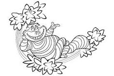 Cheshire Cat, alice in wonderland, disney coloring pages